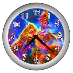 Cosmic Mind Wall Clock (silver) by icarusismartdesigns