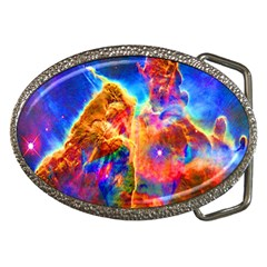 Cosmic Mind Belt Buckle (oval) by icarusismartdesigns