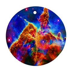 Cosmic Mind Round Ornament (two Sides) by icarusismartdesigns