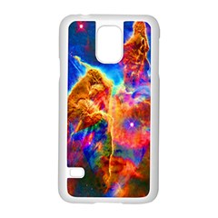 Cosmic Mind Samsung Galaxy S5 Case (white) by icarusismartdesigns