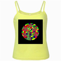 Star Seeker Yellow Spaghetti Tank by icarusismartdesigns