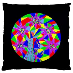 Star Seeker Large Flano Cushion Case (two Sides) by icarusismartdesigns