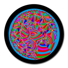 Magical Trance 8  Mouse Pad (round) by icarusismartdesigns