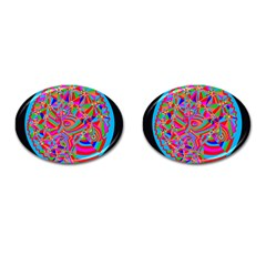 Magical Trance Cufflinks (oval) by icarusismartdesigns