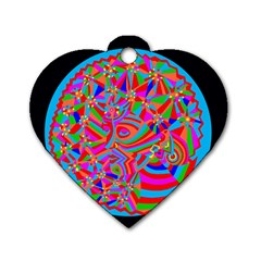 Magical Trance Dog Tag Heart (one Sided)  by icarusismartdesigns