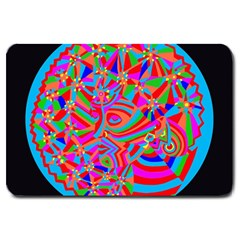 Magical Trance Large Door Mat by icarusismartdesigns