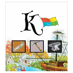 Keyflower Tools By Jon   Drawstring Pouch (medium)   Em8tduqg8dzd   Www Artscow Com Back