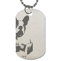 French Bulldog Art Dog Tag (One Sided) by TailWags