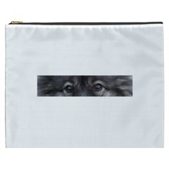 Keeshond Eyes Cosmetic Bag (XXXL) by TailWags
