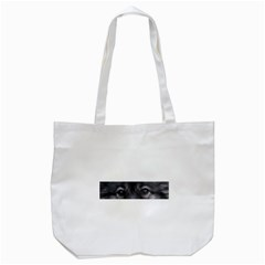 Keeshond Eyes Tote Bag (White) by TailWags