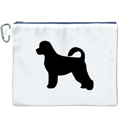 Portugese Water Dog Silhouette Canvas Cosmetic Bag (XXXL) by TailWags