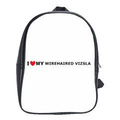 I Love My Wirehaired Vizsla School Bag (Large) by TailWags