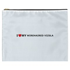 I Love My Wirehaired Vizsla Cosmetic Bag (XXXL) by TailWags
