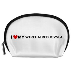 I Love My Wirehaired Vizsla Accessory Pouch (Large) by TailWags