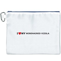 I Love My Wirehaired Vizsla Canvas Cosmetic Bag (XXXL) by TailWags