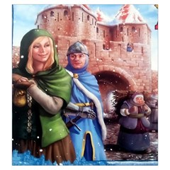 Carcassonne Winter Edition By Dean   Drawstring Pouch (large)   6nwtu39mhp2v   Www Artscow Com Front