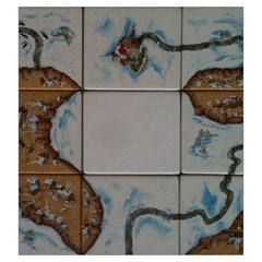 Carcassonne Winter Edition By Dean   Drawstring Pouch (large)   6nwtu39mhp2v   Www Artscow Com Back