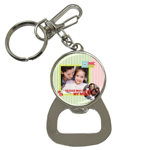 Mothers Day By Mom   Bottle Opener Key Chain   Z8jewmena5qz   Www Artscow Com Front