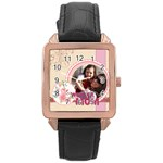 mothers day - Rose Gold Leather Watch