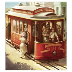 Cable Car Draw Bag By Dean   Drawstring Pouch (medium)   Qhgot1vl0fby   Www Artscow Com Front