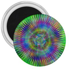 Hypnotic Star Burst Fractal 3  Button Magnet by StuffOrSomething
