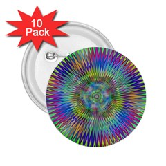 Hypnotic Star Burst Fractal 2 25  Button (10 Pack) by StuffOrSomething