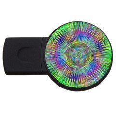 Hypnotic Star Burst Fractal 2gb Usb Flash Drive (round) by StuffOrSomething