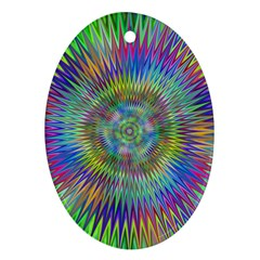 Hypnotic Star Burst Fractal Oval Ornament (two Sides) by StuffOrSomething