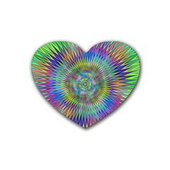 Hypnotic Star Burst Fractal Drink Coasters 4 Pack (heart)  by StuffOrSomething