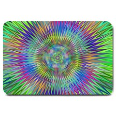 Hypnotic Star Burst Fractal Large Door Mat by StuffOrSomething