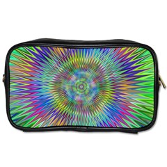 Hypnotic Star Burst Fractal Travel Toiletry Bag (two Sides) by StuffOrSomething