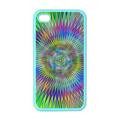 Hypnotic Star Burst Fractal Apple Iphone 4 Case (color) by StuffOrSomething
