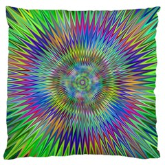 Hypnotic Star Burst Fractal Large Cushion Case (two Sided)  by StuffOrSomething
