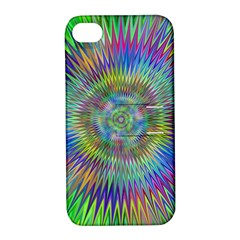 Hypnotic Star Burst Fractal Apple Iphone 4/4s Hardshell Case With Stand by StuffOrSomething