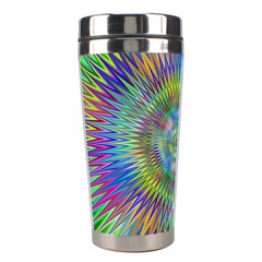 Hypnotic Star Burst Fractal Stainless Steel Travel Tumbler by StuffOrSomething