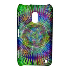Hypnotic Star Burst Fractal Nokia Lumia 620 Hardshell Case by StuffOrSomething