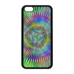 Hypnotic Star Burst Fractal Apple Iphone 5c Seamless Case (black) by StuffOrSomething