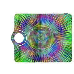 Hypnotic Star Burst Fractal Kindle Fire Hdx 8 9  Flip 360 Case by StuffOrSomething