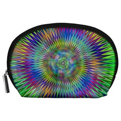 Hypnotic Star Burst Fractal Accessory Pouch (large) by StuffOrSomething