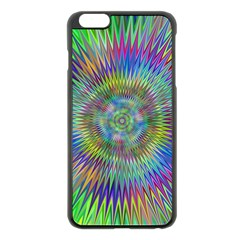 Hypnotic Star Burst Fractal Apple Iphone 6 Plus Black Enamel Case by StuffOrSomething