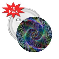 Psychedelic Spiral 2 25  Button (10 Pack) by StuffOrSomething