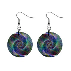 Psychedelic Spiral Mini Button Earrings