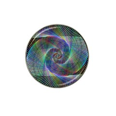 Psychedelic Spiral Golf Ball Marker (for Hat Clip)