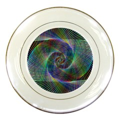 Psychedelic Spiral Porcelain Display Plate by StuffOrSomething