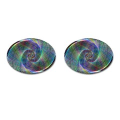 Psychedelic Spiral Cufflinks (oval) by StuffOrSomething
