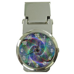Psychedelic Spiral Money Clip With Watch by StuffOrSomething