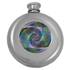 Psychedelic Spiral Hip Flask (round) by StuffOrSomething