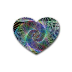 Psychedelic Spiral Drink Coasters 4 Pack (heart)  by StuffOrSomething