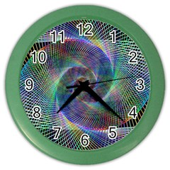 Psychedelic Spiral Wall Clock (Color) by StuffOrSomething