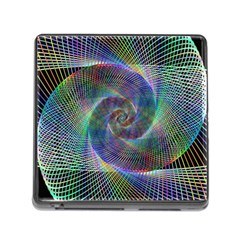 Psychedelic Spiral Memory Card Reader With Storage (square) by StuffOrSomething